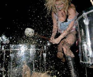 concert, glitter, and kesha image