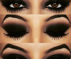 makeup, eyes, and black image