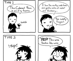 funny, wine, and sarah andersen image