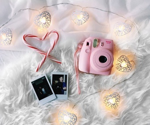 polaroid, christmas, and pink image