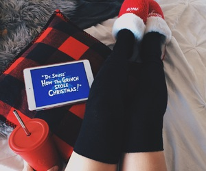 christmas, legs, and cozy image