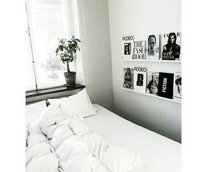 bed, sleep, and white image
