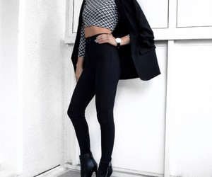 classy, style, and black image