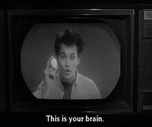 brain, black and white, and johnny depp image