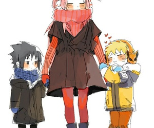 naruto, anime, and team 7 image