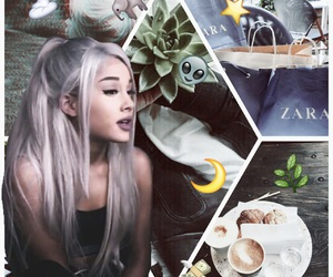 Collage, grunge, and moonlight image