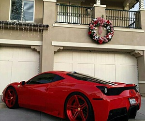 car, christmas, and red image