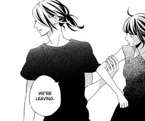 black&white, kawaii, and couple image