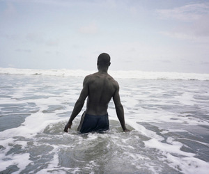 beach, photography, and man image