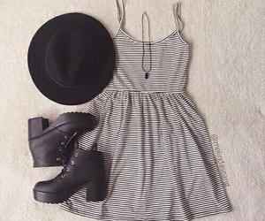 fashion, dress, and hat image