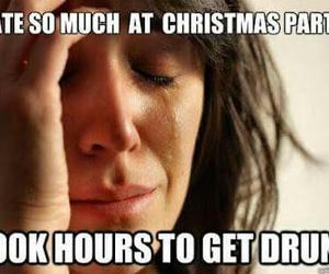christmas and drunk image