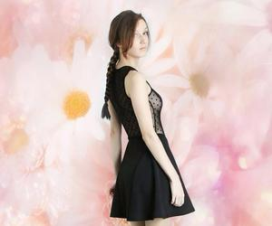 braid, flower, and clothes image