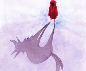 art, draw, and red riding hood image