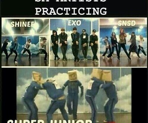 super junior, exo, and snsd image