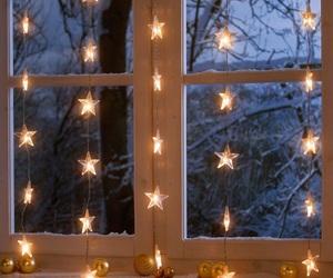 stars, light, and winter image
