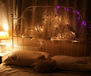 lights, photography, and bed image