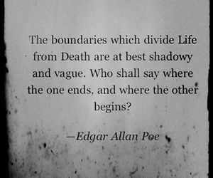 quotes, edgar allan poe, and death image