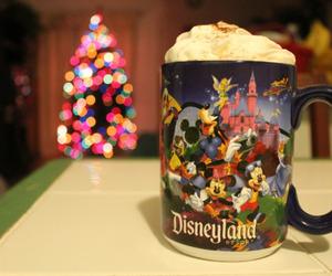 christmas lights, christmas tree, and cup image
