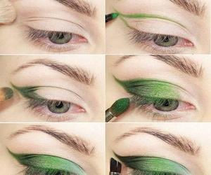 makeup, green, and tutorial image