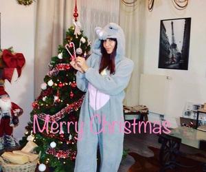 christmas, christmas tree, and pijama image