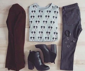 outfit, fashion, and mickey mouse image