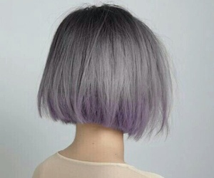hair, purple, and short image