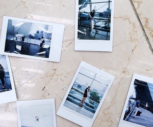 blue, picture, and polaroid image