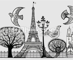 cartoon, countries, and paris image