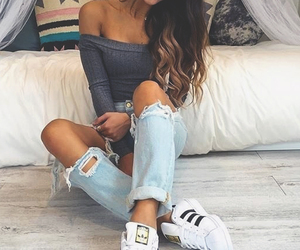 fashion, crop top, and girl image