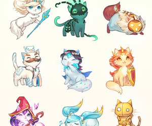 cat, league of legends, and support image