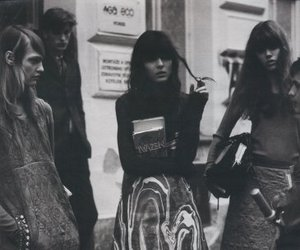 model, black and white, and Irina Lazareanu image