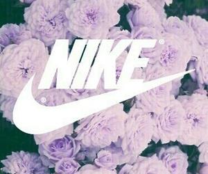 nike, flowers, and purple image
