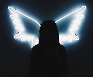 angel, black, and indie image