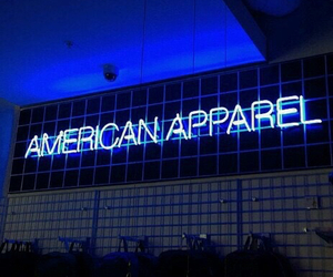 american apparel, blue, and grunge image