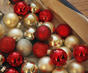 christmas, red, and gold image