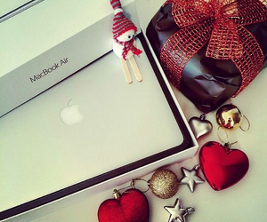 apple, colours, and gift image