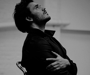 sam claflin, black and white, and handsome image