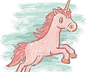 drawing, unicorn, and pink image