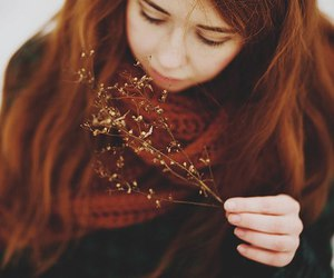 cold, ginger hair, and girl image