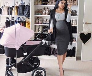 fashion, pregnant, and baby image