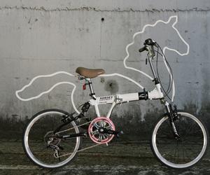 bike, horse, and unicorn image