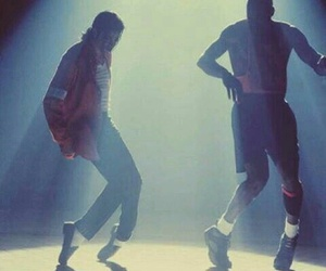 michael jackson, michael jordan, and king of pop image
