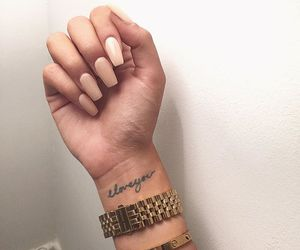 nails, fashion, and tattoo image