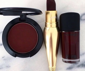 makeup, lipstick, and red image