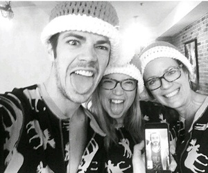 grant gustin, christmas, and family image