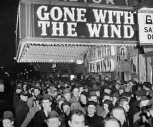 Gone with the Wind, black and white, and movie image