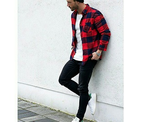 adidas, fashion, and flannel image