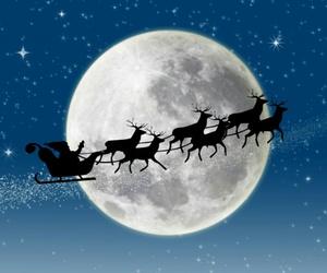 christmas and full moon image