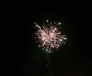 fireworks, lights, and new years image