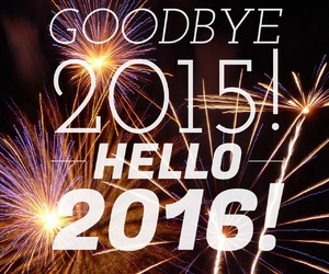 2016, happy new year, and hello image